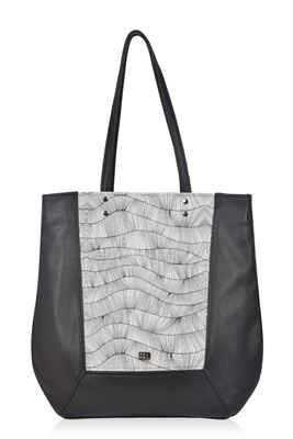 Leather Shoulder/Tote Bag Ziggy - Prism