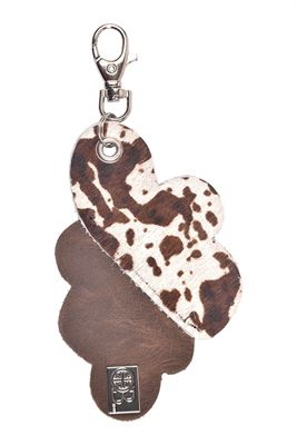 Leather Cowhide Combo Keyring - Nimbus