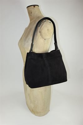 Suede Shoulder Bag Black - Puppie
