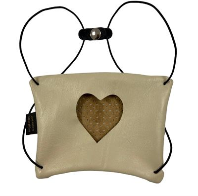 Leather Facemask Buttermilk - Heart