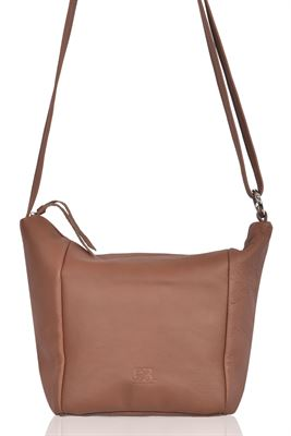Leather Shoulder/Crossbody Bag Mulberry - Charlton