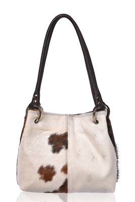 Cowhide Shoulder Bag Tricolour - Pepsi