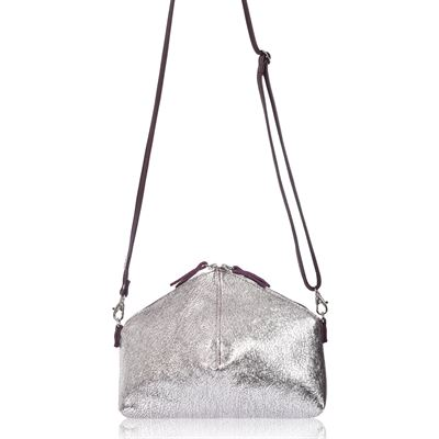 Leather Crossbody Bag Pomme Frost/Victoria - Cleeve