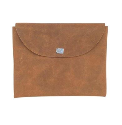 Leather Clutch Purse Waxy Chestnut- Nettle
