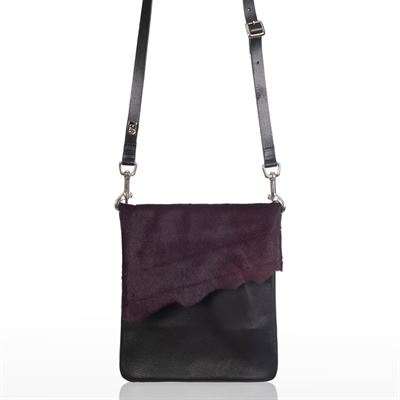 Cowhide Crossbody Bag Grape - Small Francine
