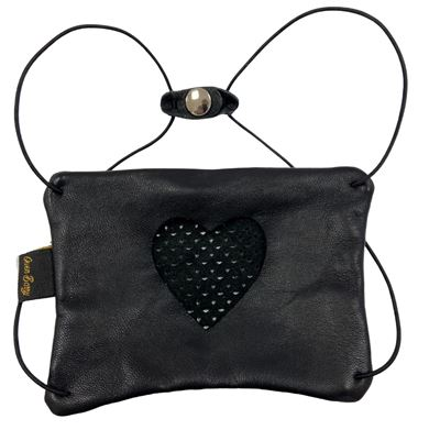 Leather Facemask Black - Heart