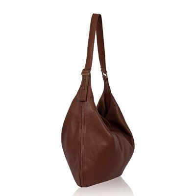 Leather Shoulder Bag Tan - Winnie