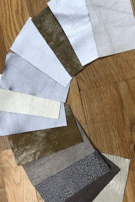Leather Metallic Assortment Panel Pieces 8 cms x 15 cms Pack of 12