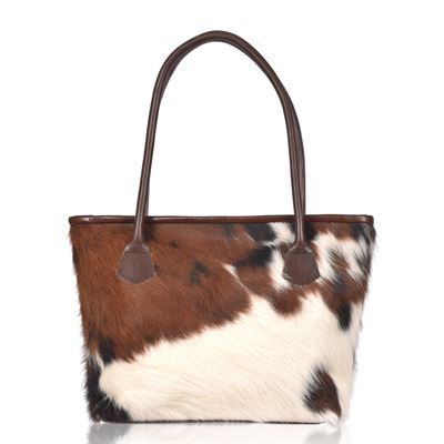 Cowhide Tote/Shoulder Bag Tricolour- Hurdler N5
