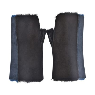Sheepskin Fingerless Tube Mittens O/S