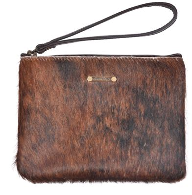 Cowhide Unique Clutch Purse - Minnie