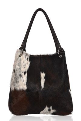 Cowhide Shoulder Bag Tricolour D1 - Dudley