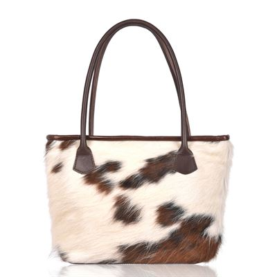 Cowhide Tote/Shoulder Bag Tricolour- Hurdler N13