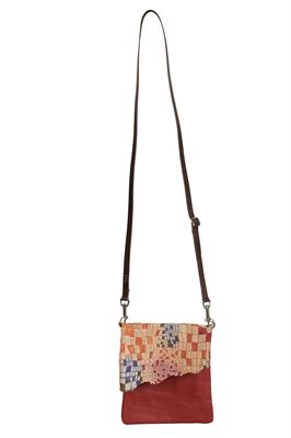 Cowhide Crossbody Bag Multi - Small Francine