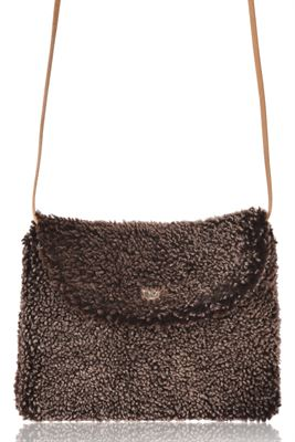 Sheepskin Crossbody Bag - Boo