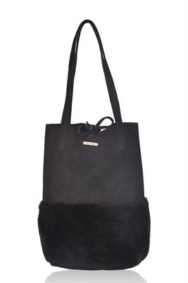 Sheepskin Suede Shoulder/Tote Bag - Waddon