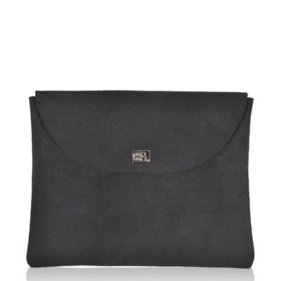 Nubuck Clutch Purse Coal - Nettle Small