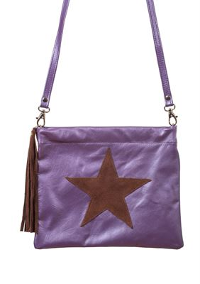 Leather Crossbody Bag Grape - Giley