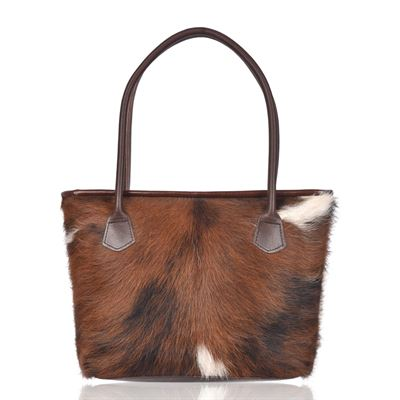 Cowhide Tote/Shoulder Bag Tricolour- Hurdler N17