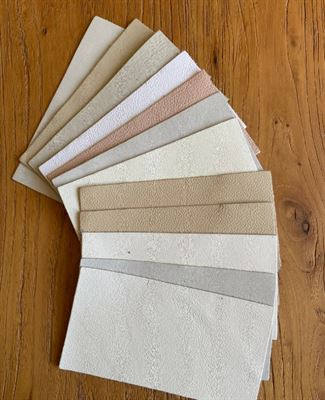 Leather Creams Assortment Panel Pieces 8 cms x 15 cms Pack of 12