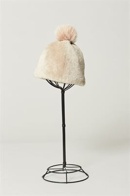 Sheepskin Beanie Hat with Pom - Joni