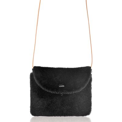 Sheepskin Crossbody Bag Black - Boo