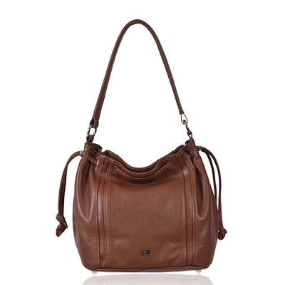 Leather Shoulder Bag Tan - Joshua