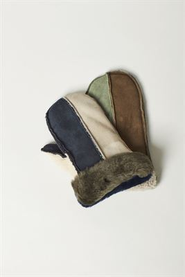 Sheepskin Mittens Multi Coloured M02 O/S