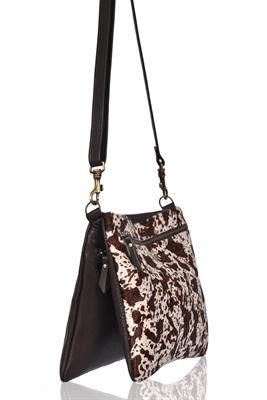 Cowhide Crossbody Bag - Dusty