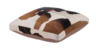 Cowhide Floor Cushion Tricolour