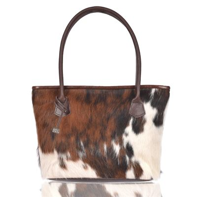 Cowhide Tote/Shoulder Bag Tricolour - Hurdler N20