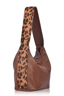 Cowhide Shoulder Bag Savannah - Gable