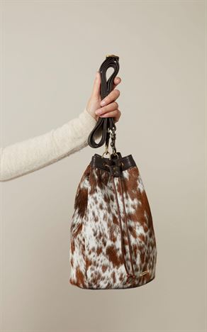 Cowhide Crossbody Bag Tricolour - Toots