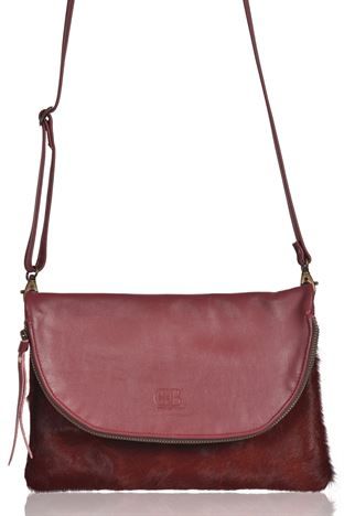 Cowhide Crossbody/Clutch Bag - Georgie