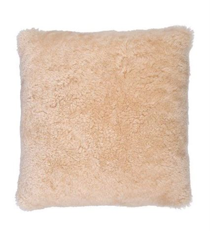 Sheepskin Cushion 40x40cm Swedish