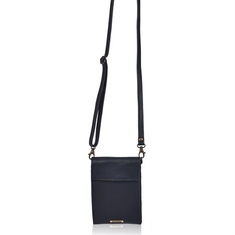 Leather Crossbody/Clutch - Zara