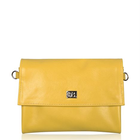 Leather Crossbody/Clutch Bag - Regal