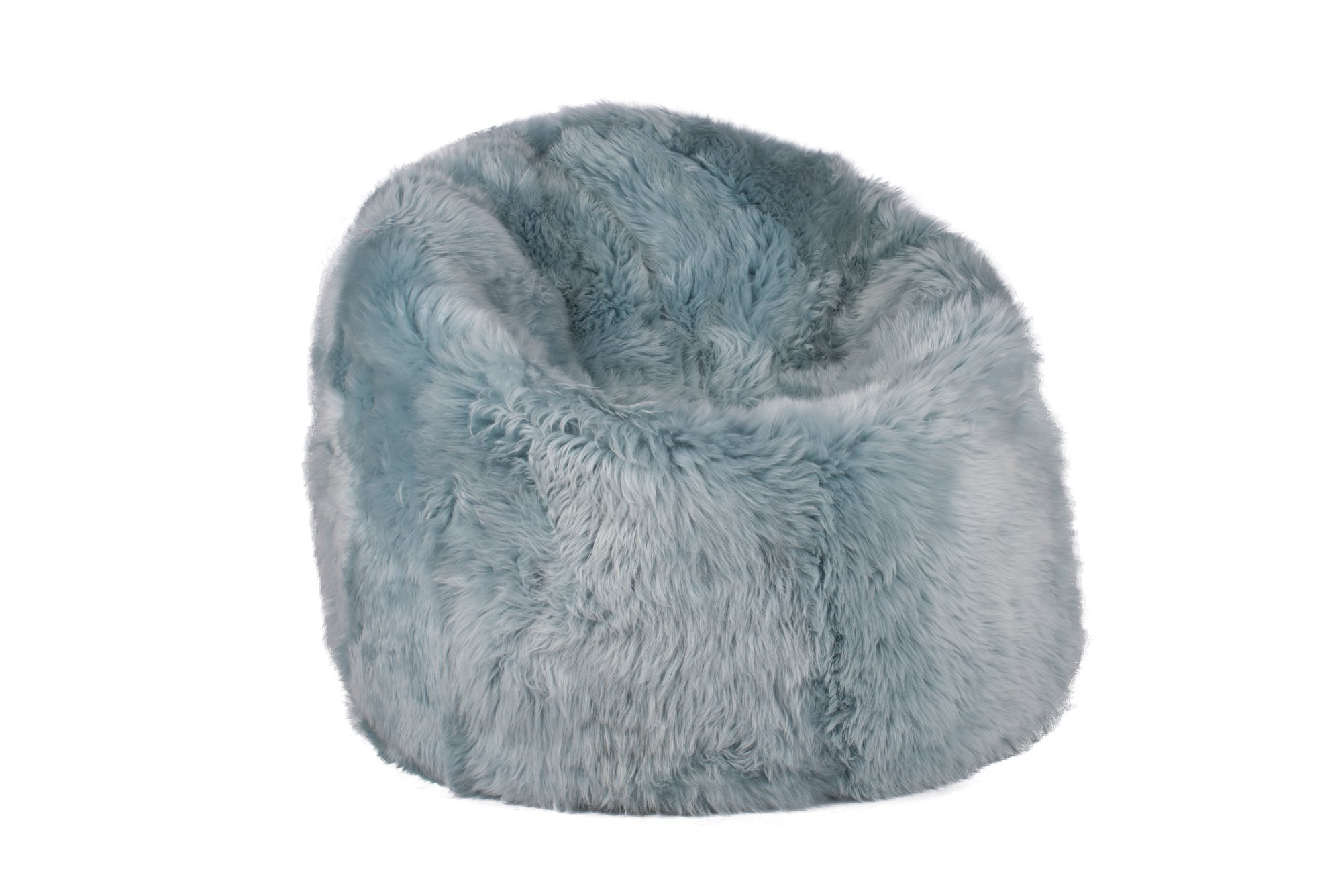 Brilliant Sheepskin Large Beanbag Luxe Duck Egg Squirreltailoven Fun Painted Chair Ideas Images Squirreltailovenorg